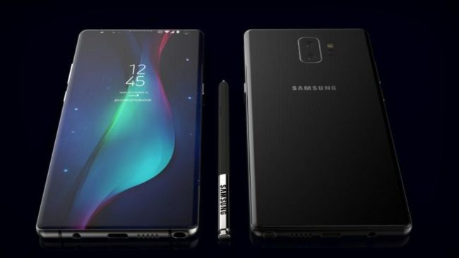 Дизайн Samsung Galaxy Note 9