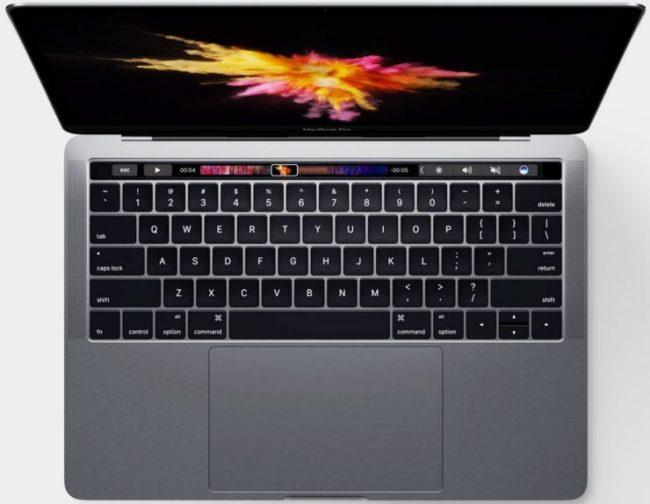 Использование сенсорной панели в MacBook Pro