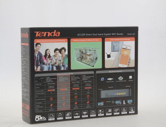 Комплект поставки и дизайн Tenda AC9